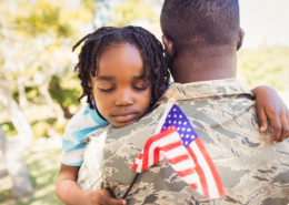 American Veteran and child