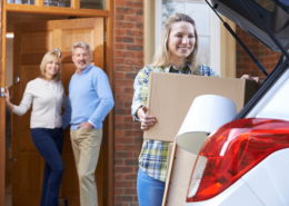 Daughter packing car for college
