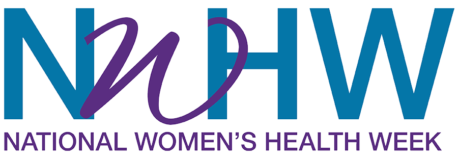 national women's health week logo in blue and purple