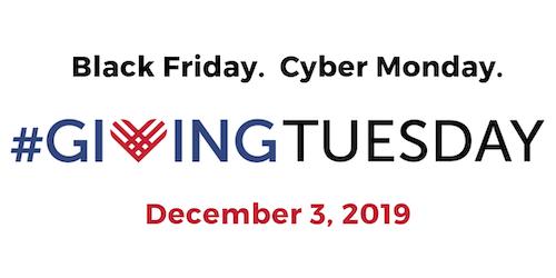 GivingTuesday logo above December 3, 2019 date