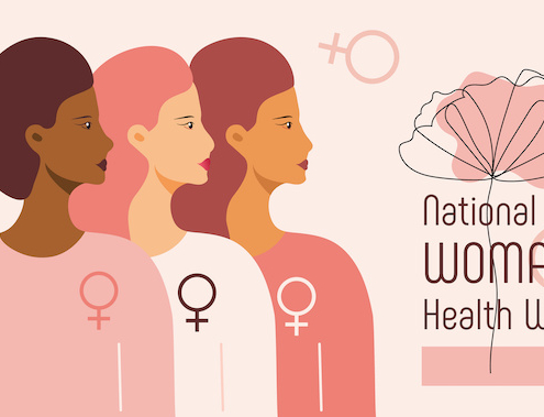 multicultural women indicate the week is about all women's health